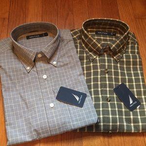Two long sleeve dress shirts